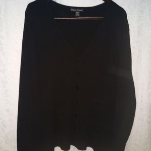 Plus size button up black sweater. Size 3x